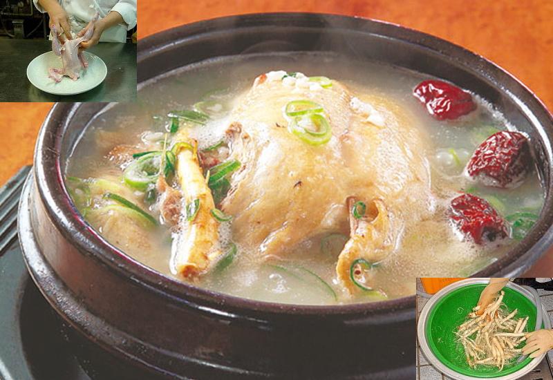 参鶏湯は、若い日の思い出の味です
