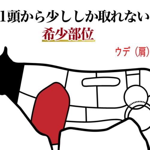 牛肉の希少部位、ウデ(肩)編
