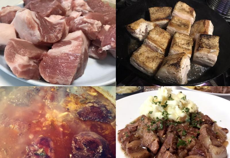 肉煮込み料理をつくる「ひと手間」